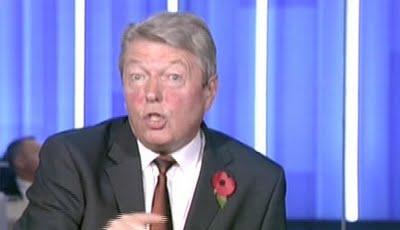 Alan Johnson red faced