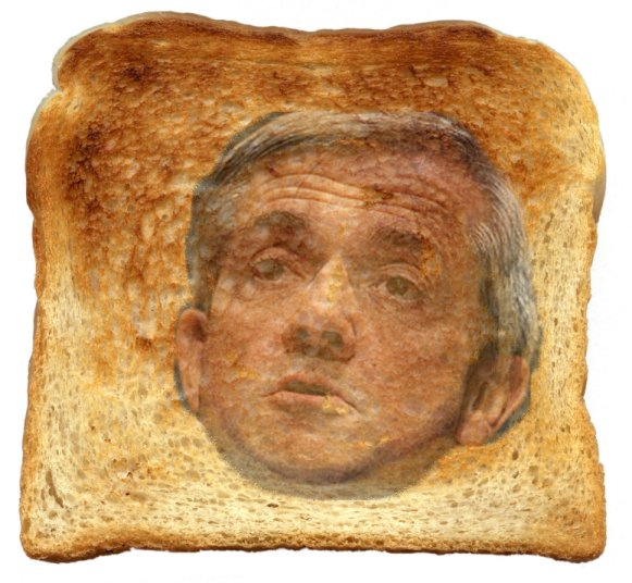 A picture worth 3 words - Huhne is Toast