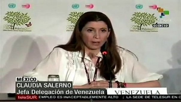 """Venezuela's lead negotiator  at COP18 Claudia Salerno """"Climate finance in its current form is immoral and should not be used to leverage climate action from poorer nations"""""""