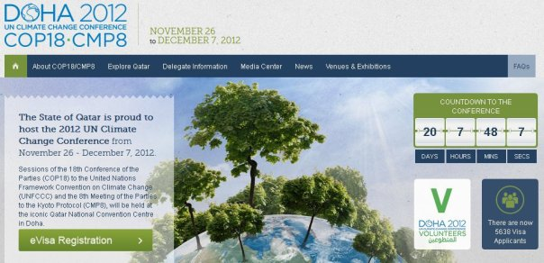 The early signs before the visa applicant counter vanished from the COP18 website were that hardly anyone was going, this has proved to be case.