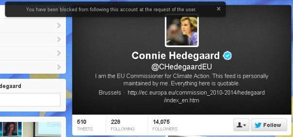 Because the debate is over, attempting to follow the EU's unelected Climate Commissar Connie Hedegaard.