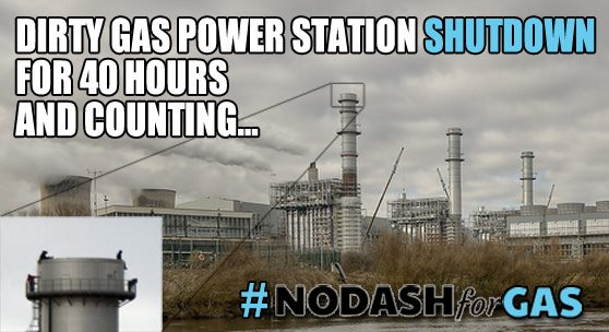 NoDashForGas braying about having shutdown a power station, so much for peaceful protest, this is industrial sabotage.
