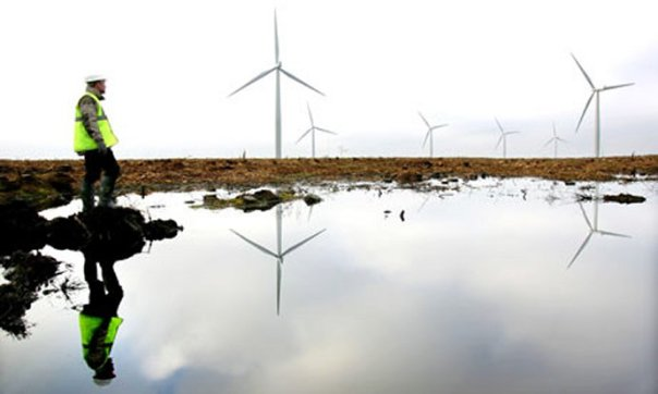 Large British wind farms will actually release as much carbon dioxide as fossil-fuel power plants, according to a study conducted by researchers from Aberdeen University