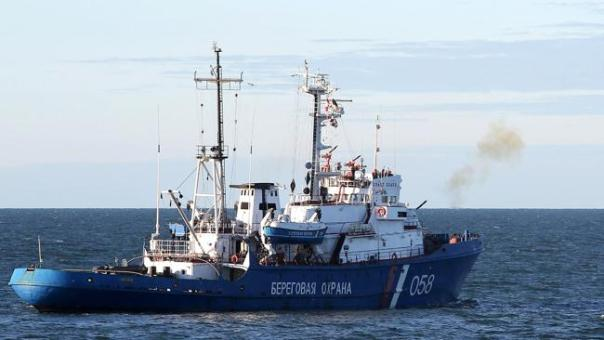 The Russian Coastguard fires warning shots at the Greenpeace ship Arctic Sunrise last Thursday.