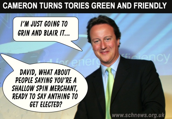 Call Me Dave suspects that the recent storms that have hit the UK are linked to Global Warming but he is not sure. So why say anything?
