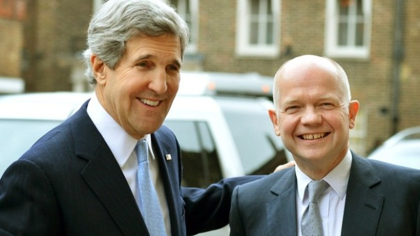 US Secretary of State John Kerry and former UK Foreign Secretary William Hague both believe that AGW is 95% human caused, yet during Hague's tenure climate diplomacy funding was cut by 39%